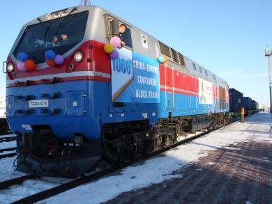 Через станцию Алтынколь в Казахстане прошел 1000-й контейнерный поезд по маршруту Китай – ЕС