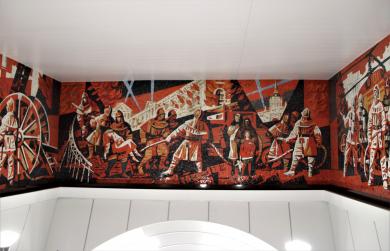 В Санкт-Петербурге в вестибюле новой станции метро торжественно открыли музей славы МЧС