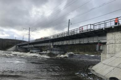 ОЖД: в результате обрушения моста никто не пострадал