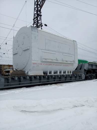 «РЖД Логистика» организовала доставку из Новосибирска в Санкт-Петербург сверхгабаритного оборудования