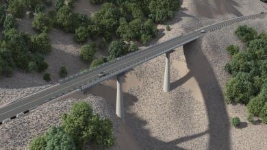 Мост через Терек реконструируют в Чечне до конца 2018 года