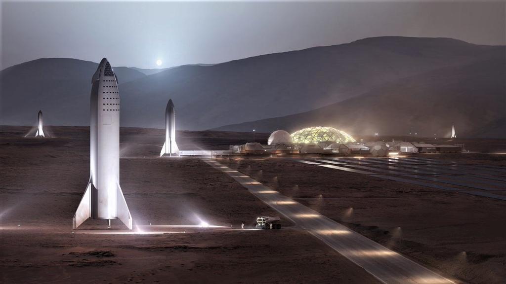 Илон Маск продемонстрировал, как будет выглядеть колонизация Марса